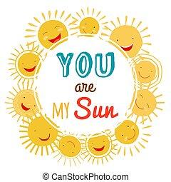 printable, słońce, litera, wektor, mój, ty, chorągiew, rysunek
