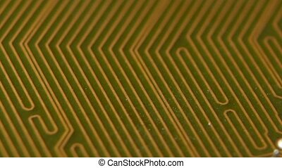 Printed circuit board digital technologies computer. Close...