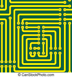 Seamless pattern of a printed circuit board