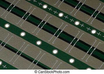 Printed Circuit Board - Close up detail of a Printed Circuit...