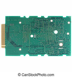 Printed circuit - Detail of an electronic printed circuit...