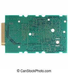 Printed circuit - Detail of an electronic printed circuit...