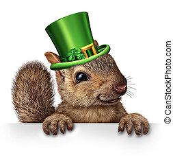 printemps, écureuil, célébration