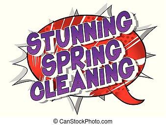 printemps, abrutissant, nettoyage