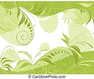 printemps, arrière-plan vert