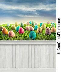 printemps, background/backdrop, paques, heureux