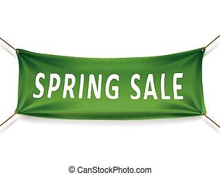 printemps, bannière, vente