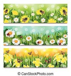 printemps, bannières