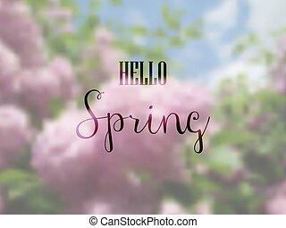 printemps, bonjour