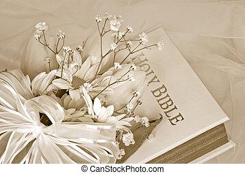printemps, bouquet nuptial