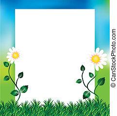 printemps, copie, fond, espace