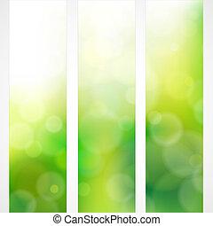 printemps, couleurs, arrière-plan vert, soleil