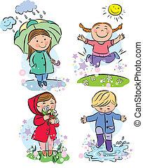 printemps, enfants