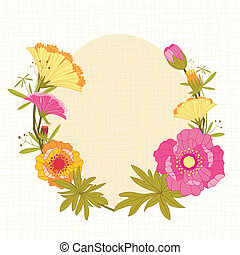 printemps, fleur, coloré, fond