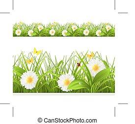 printemps, herbe, vert
