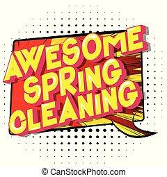 printemps, impressionnant, nettoyage