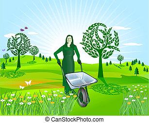 printemps, jardinage