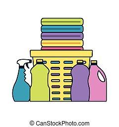 printemps, outils, nettoyage