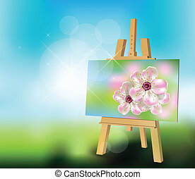 printemps, peinture