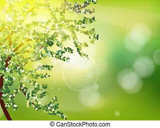 printemps, résumé, arrière-plan., eps, 10