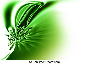 printemps, résumé, arrière-plan vert, mouvement,