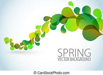 printemps, résumé, floral, fond