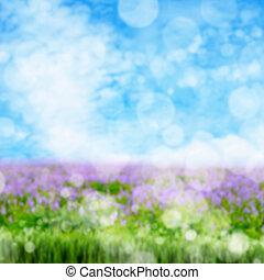 printemps, résumé, fond, barbouillage