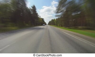 printemps, route, rural