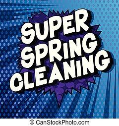 printemps, super, nettoyage