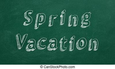 printemps, vacances