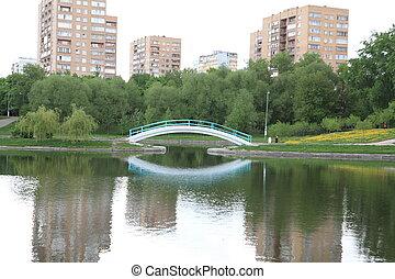 printemps, ville parc
