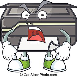 Printer cartoon character design with angry face