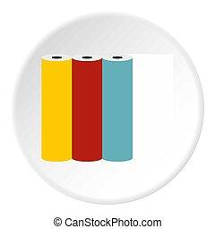 Printer cartridges icon, flat style