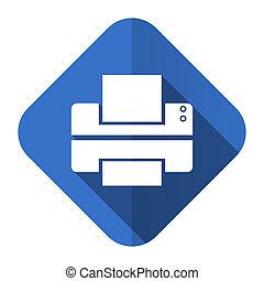 printer flat icon print sign