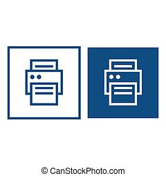 Printer for paper icons