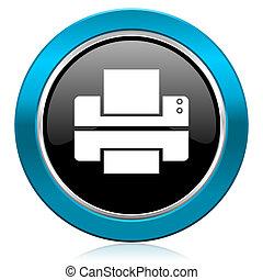 printer glossy icon print sign