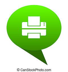 Printer green bubble icon