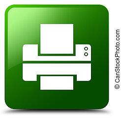 Printer icon green square button
