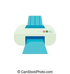 Printer icon in cartoon style
