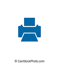 Printer icon logo design template