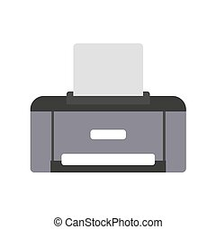 Printer icon on white background. Vector illustration in trendy flat style. ESP 10.