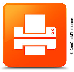 Printer icon orange square button