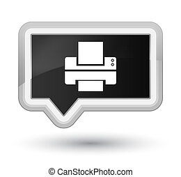 Printer icon prime black banner button