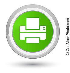 Printer icon prime soft green round button