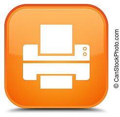 Printer icon special orange square button