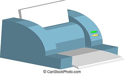 printer Illustration - Illustration of a computer printer