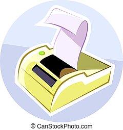 Printer - Illustration of a computer printer