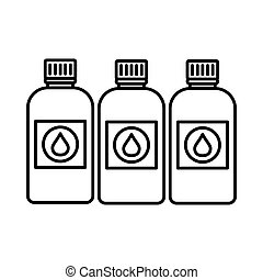 Printer ink bottles icon, outline style