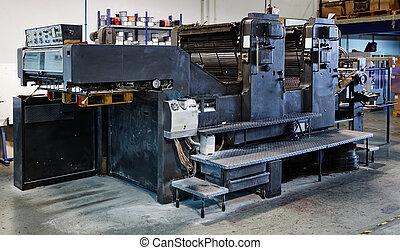 Printer ink machine rotary printing