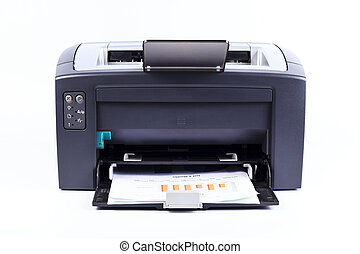 printer isolated against a white background